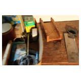 Manual Miter Saw, Caulk Guns &  Small Shelves Lot