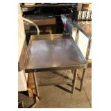"Stainless Steel Commercial NSF Table 30"" Long X 24 1/2"" Wide X 25"" High"