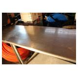 "Stainless Steel Commercial NSF 48"" Table With Undershelf"
