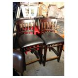 2 Wood Chairs Black Commercial Restaurant Quality