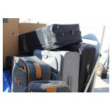 Suit Cases Lot Of Eight Cases