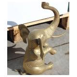 """Brass Elephant Statue 17 1/2"""" High"""