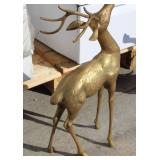 "Antler Brass Statue 24"" High"