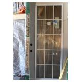 Door Glass And Frame  Ft Wide X 6Ft 8Inch