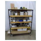 Steel Rack With 5 Shelves On Casters