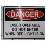 Danger sign, Alum & Plastic