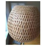 Floor Lamp With Two Layer Weaved Shade