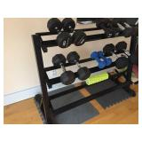 Weight Stand With Hand Weights