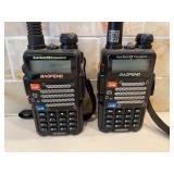 2 Bofeng Dual Band FM Transceivers