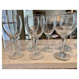 Lot of 10 Wine Glasses