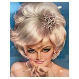 Vintage Framed Pin Up Girl by Vargas