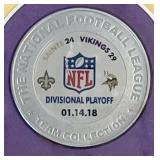 Limited Edition Minnesota Vikings Framed Photo and Coin