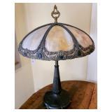 Amazing Vintage Slag Glass Table Lamp