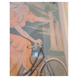 Original Framed Omnium Cycles and Automobiles Advertising Poster