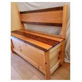 Unique Wooden Handcrafted Storage Bench