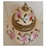 Pretty Painted Ginger Jar