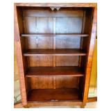Arts and Crafts Antique Double Glass Door Bookcase