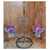 Danish Candleholder and Candles