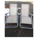 Two Matching Patio Loungers