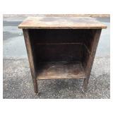 Vintage Wooden Storage Cabinet on Wheels