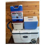 Lot of 3 Coolers and an Reliance Aqua-Tainer Water Jug