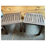 2 Wooden Accent Tables