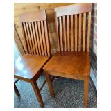 Two  Wooden Chairs