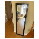 Black Edged Full Length Mirror