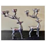 2 Reindeer Votive Holders