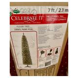 """""""Celebrate It"""" 7 Foot Christmas Tree and 2 Boxes of LED Twigs"""