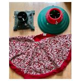 2 Tree Stands and a Tree Skirt