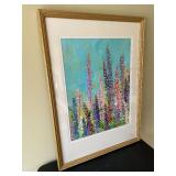 """""""Oh! Those Lupine!"""" Original Acrylic Painting by James Wilcox Dimmers"""