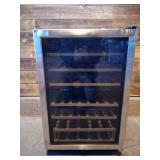 Frigidaire - 38-Bottle Wine Cooler - Stainless steel