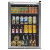 Frigidaire - 138-Can Beverage Center - Stainless steel