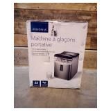 Insignia™ - 33-Lb. Portable Ice Maker - Stainless steel