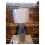 Lalia Home Concrete Pillar Table Lamp with White Fabric Shade