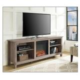 "Walker Edison - Fireplace TV Console for Most TVs Up to 70"" - Driftwood"