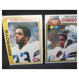 1978 Topps Tony Dorsett Rookie Card #315 Fair Condition & 1979 Topps 2nd Year #160