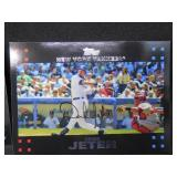 (2) 2007 Topps Derek Jeter with Mantle & Bush in The Background. Super Short Print Card