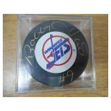 Bobby Hull Autographed Hockey Puck with Case