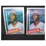 (2) 1985 Topps Eric Davis Rookie Cards #627