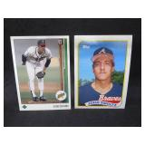 (2) 1989 John Smoltz Rookie Card Lot