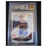 BGS 9 Mint 2013 Bowman Chrome Draft Autograph Kohl Stewart Rookie Card