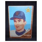 1962 Topps Gaylord Perry Rookie Card #199 Rough Condition