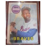 1969 Topps Hank Aaron #100 HOFer Rough Condition