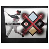 2001 SPX Winning Materials Game Used Jersey And Bat Card Ken Griffey Jr.