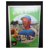 1959 Topps Ernie Banks #350 Very Good Condition Chicago Cubs