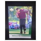 2001 Upper Deck Tiger Woods Rookie Card #1 Near Mint