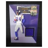 2002 Flair Jersey Heights Randy Moss Game Worn Jersey Card