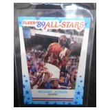 1989 Fleer All-Star Sticker Michael Jordan #3 Near Mint